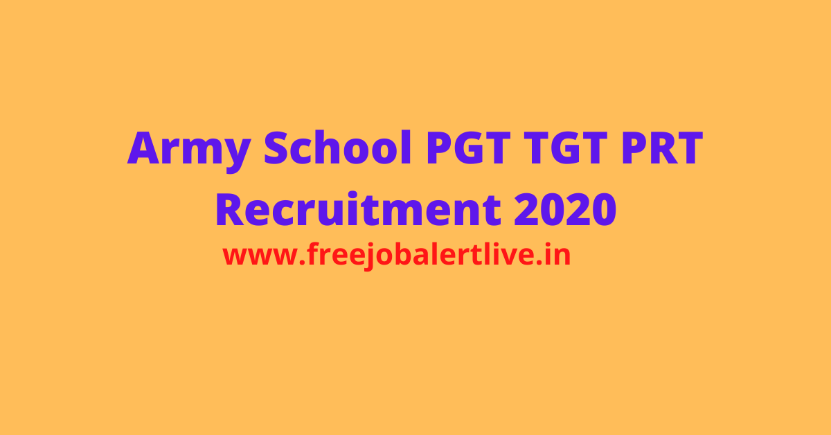 Army School pgt tgt prt Recruitment 2020