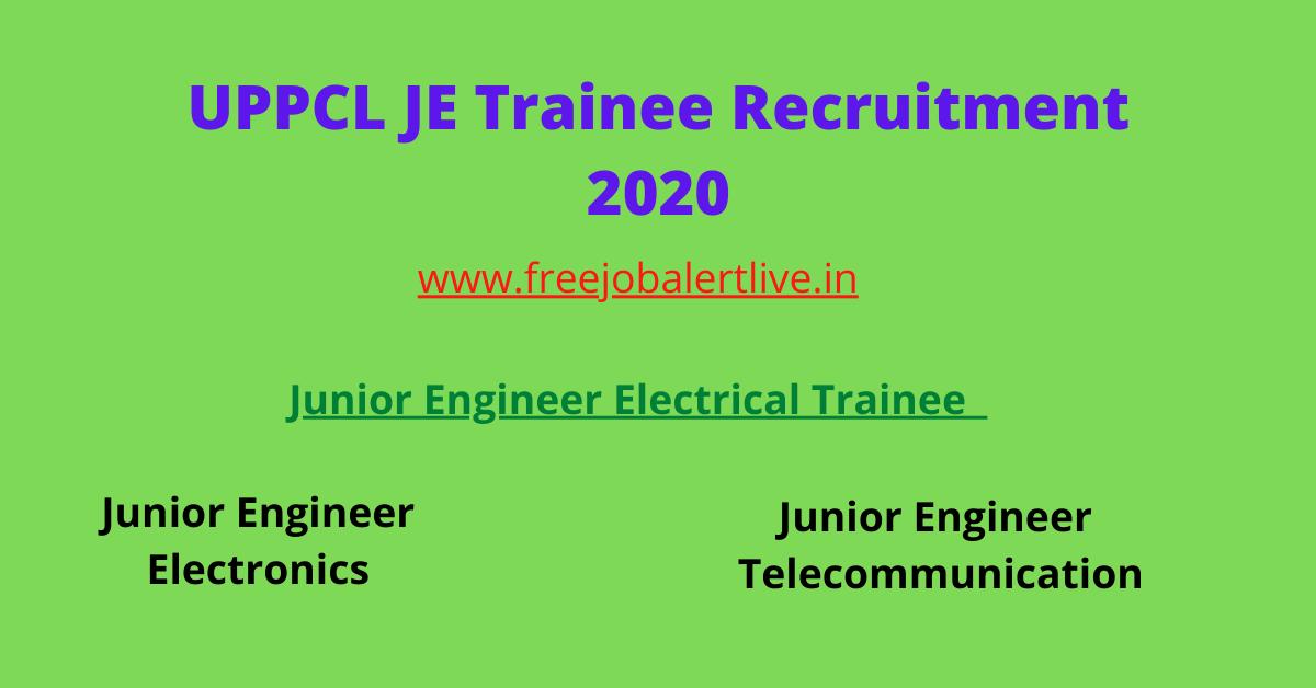 UPPCL JE Trainee Recrutment 2021