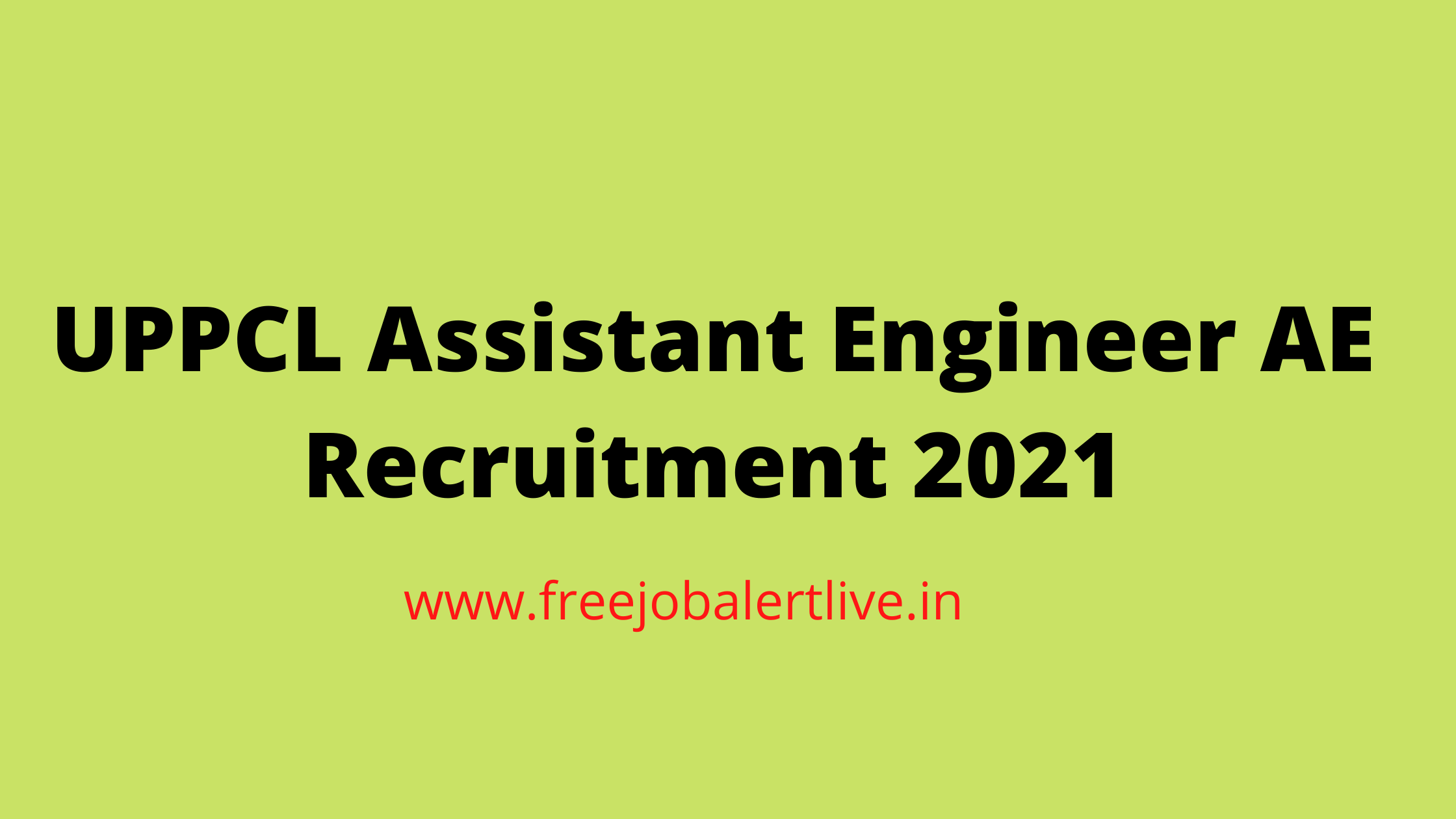 UPPCL Assistant Engineer AE Recruitment 2021