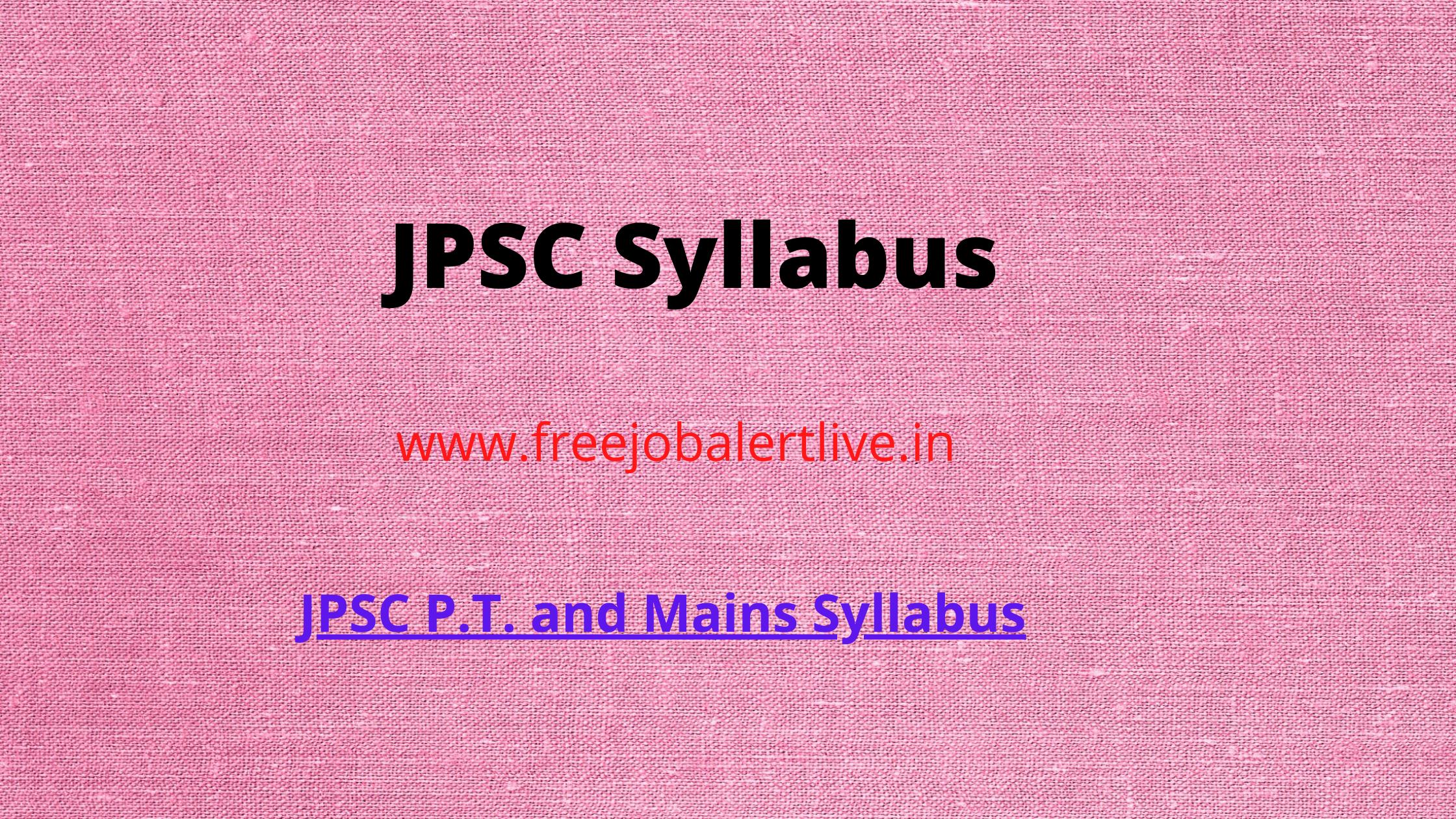 JPSC Syllabus