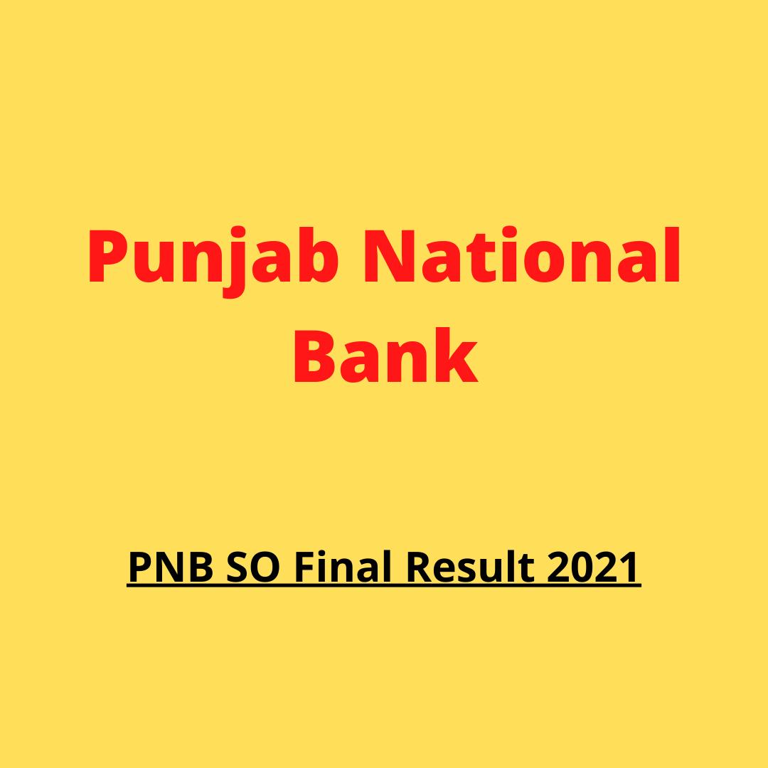 pnb so final result