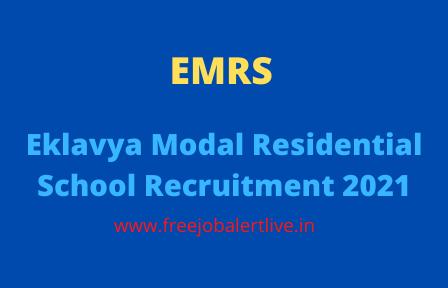 Eklavya Modal Residential School Recruitment 2021